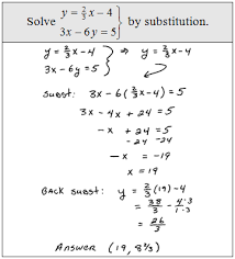 solving linear systems by substitution worksheet free worksheets