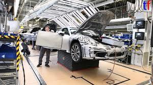 porsche factory porsche 911 s on production line