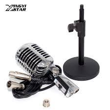 Microphone Bureau - support de bureau filaire vintage microphone professionnel