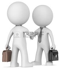 bureau d ude ou bureau d udes deal done dudes shaking at office desk noir style stock photo
