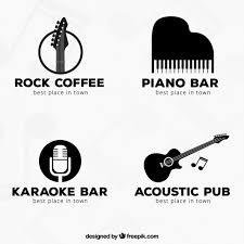 imagenes logos musicales colección de logotipos negros de música descargar vectores gratis