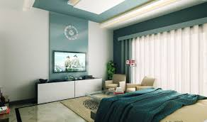 tv wall designs bedroom modern blue bedroom with tv wall design awesome modern