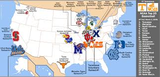 Colleges In Washington State Map by College Basketball Rankings March 2 2008 Ap Poll Top 25