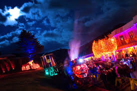 halloeen ghost train halloween festival tweetsie railroad