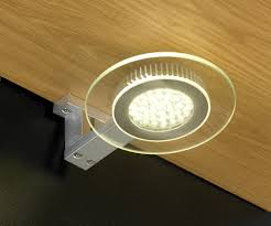 halo 2 5w led cabinet circular glass light