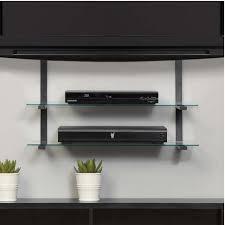 wall mounted av shelves tv wall mount with three shelves tv mounts av express wall