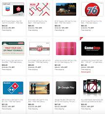 free gift cards by mail ebay save on gift cards for gas sony playstation cvs more