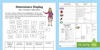 year 4 grammar determiners learning from home activity booklet