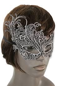 black fabric half face eye costume flowers filigree mask halloween