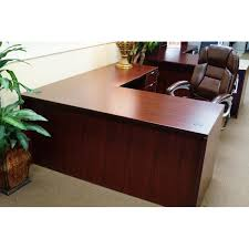 L Shape Executive Desk New Mahogany 30x66 L Shape Desk Sk Office Furniture