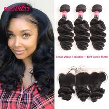 pics of loose wave hair peruvian loose wave hair weave 3 bundles with 13 4 ear to ear pre