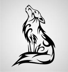 wolf tribal royalty free vector image vectorstock