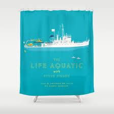 the life aquatic with steve zissou shower curtain by steeeeee