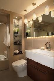 Built In Shelves In Bathroom Built In Bathroom Shelves Bathroom Contemporary With Pendant