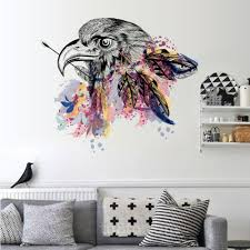 online get cheap awesome wall stickers aliexpress com alibaba group awesome indian wall stickers creative goshawk head wall decals bedroom living room hallway decoration home decor