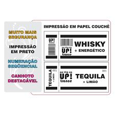 Popular 600 Ticket´s Fichas De Bar Com Canhoto Para Festas, Baladas - R  @QE37