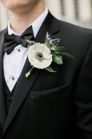 groom s boutonniere the smarter way to wed white anemone boutonnieres and wedding