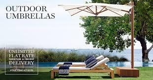 Backyard Umbrellas Outdoor Patio Umbrellas Williams Sonoma