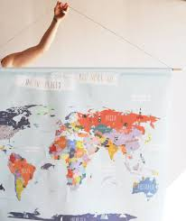 World Map Wall Poster by Giant Canvas Wall Banner World Map U2013 The Lovely Wall Company