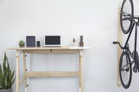artifox u0027s solid wood standing desk has a place for everything