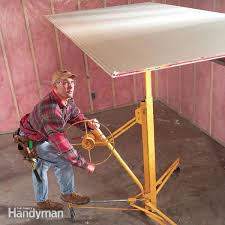 How To Build Garage Storage Lift by How To Hang Drywall Like A Pro U2014 The Family Handyman