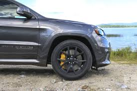 jeep grand cherokee gray 2018 jeep grand cherokee srt trackhawk first drive review