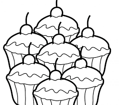cupcake coloring pages to print colour in sheets kids coloring europe travel guides com