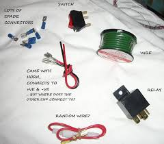 wiring klaxon horn problems questions and technical the mini