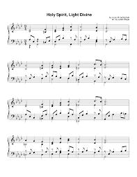 Holy Spirit My Comforter Holy Ghost Holy Spirit Sheet Music 143 Free Arrangements
