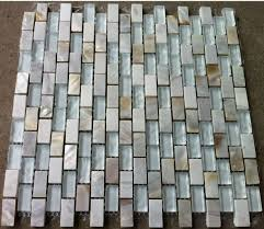 Design Decor Glass Mosaic Kitchen Tile Backsplash SGMT White - Stone glass mosaic tile backsplash