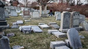 cemetery headstones vandals topple scores of headstones at cemetery in