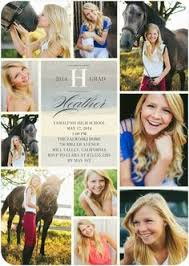 senior graduation invitations collage style graduation announcement by lilsproutgreetings