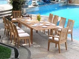 Teak Outdoor Dining Table And Chairs Teaksmith 1 In Teak Furniture