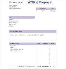 simple sales proposal template job proposal templates free word form documents creative