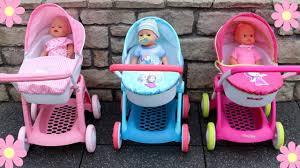 masha bear kitty disney frozen dolls stroller pram