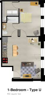 3 Beautiful Homes Under 500 Square Feet 450 Sq Ft House Floor Plan