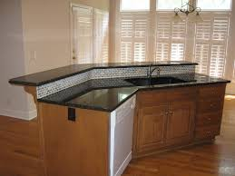 Large Kitchen Island With Sink U Shaped Kitchen With Center Island Sink Granite Countertop Red