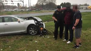 white lexus drag crash suspect loses control crashes during police chase