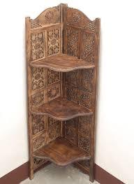 corner cabinet bookshelf screen room divider forniture indian hand