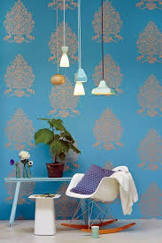 Wallpaper Interior Design Blue Wallpaper U2013 The Perfect Piped In Each Room Interior Design