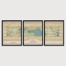 Map Central Park Old Central Park Map Art Print 1875 New York City Antique Map