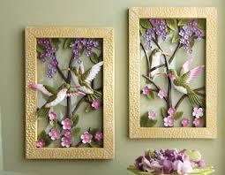 Framed Floral Hummingbird Metal Wall Decor