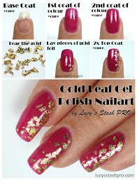 my golden leaf gel polish nails for a wedding tutorial lucy u0027s