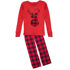 plaid pajamas deer black buffalo upon a bowtique