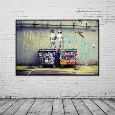 banksy home decor modern banksy art life is short chill the duck out wall art cheap