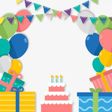 party things birthday cake gift balloon png image for free download