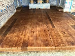 oklahoma wood back patio concrete wood faux plank oklahoma city oklahoma
