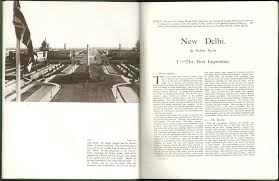 1931 january u0027new delhi the first impression u0027 by robert byron