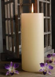 candles 12in ivory unscented