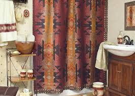 Southwest Shower Curtains Wonderful Santa Fe Southwest Bath Accessories By Veratex On